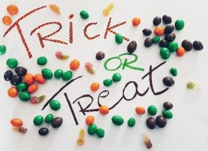Trick or Treating Sign